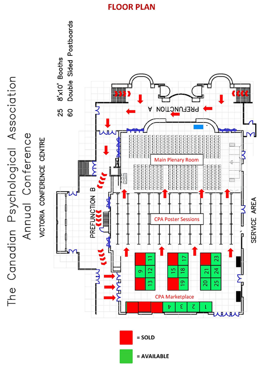 Soci t canadienne de psychologie cpa marketplace trade for Trade show floor plan