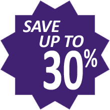 Save up to 30%!