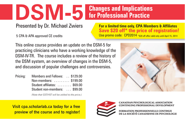 DSM-5: Changes and Implications for Professional Practice
